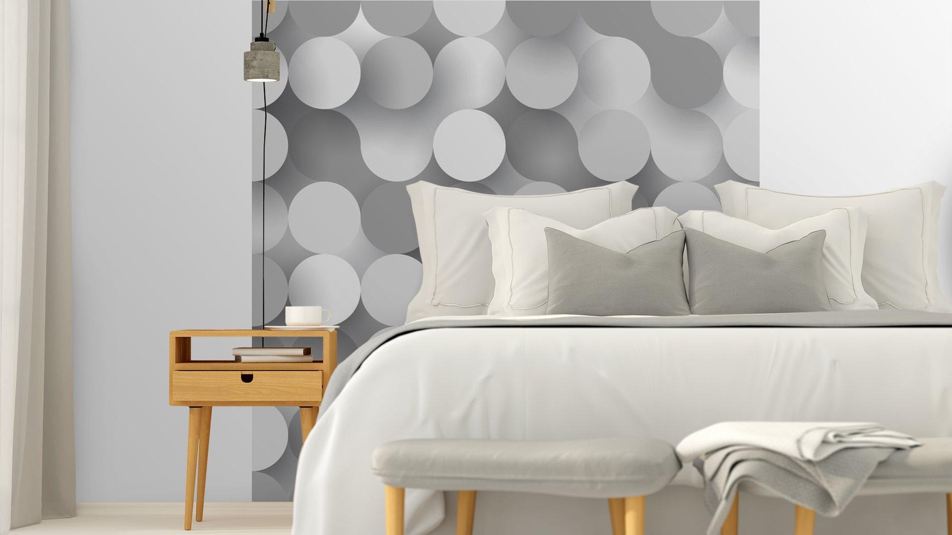 CÍRCULOS PLANAS SIN COSTURA5 - Fotomural Tapiz Tipo Abstracto Fondo Blanco