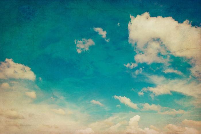 CIELO AZUL Y LAS NUBES TEXTURA DE FONDO DE LA VENDIMIA CON EL ESPACIO - Fotomural Tapiz Cielo Azul con Nubes