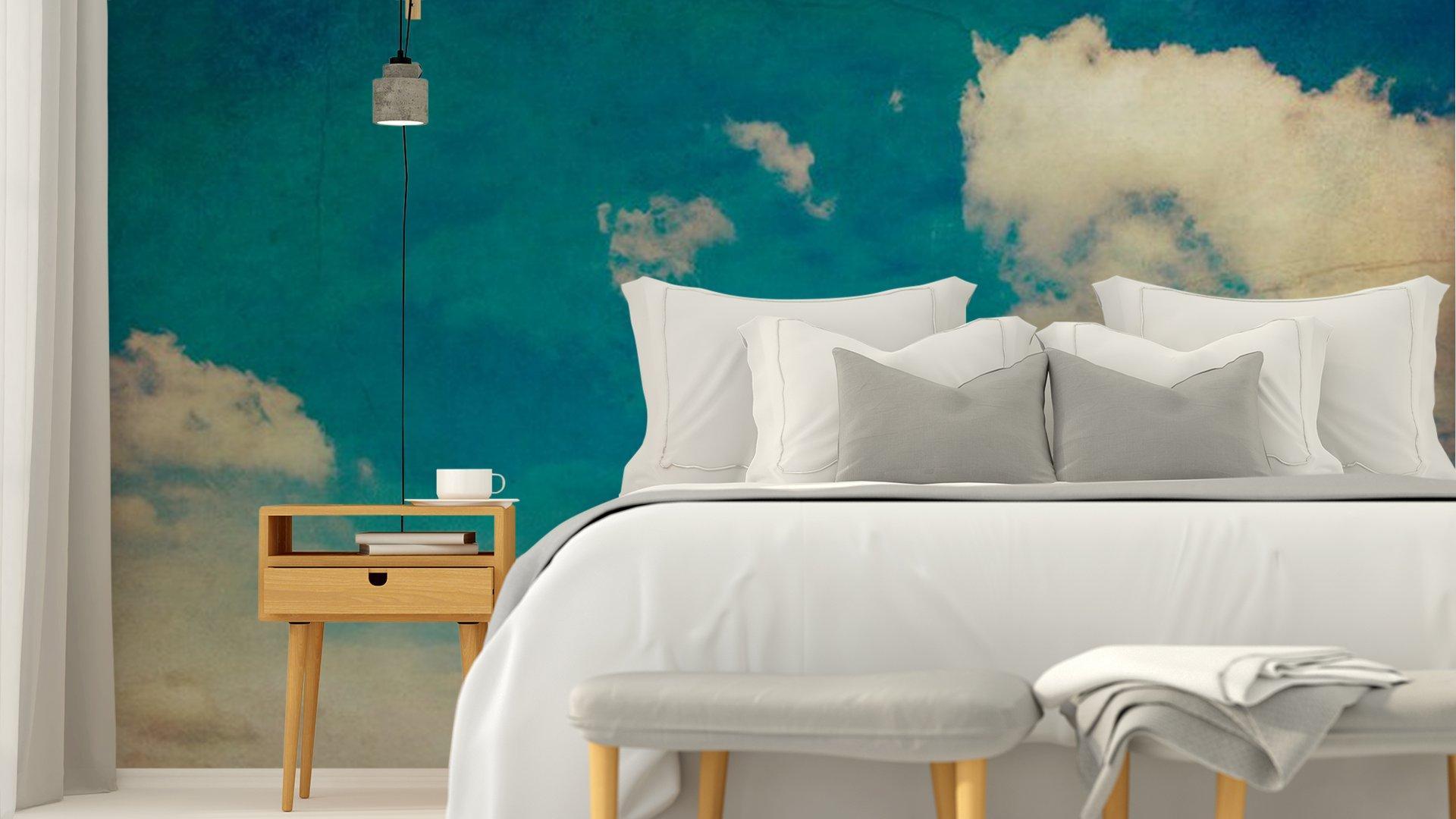 CIELO AZUL Y LAS NUBES TEXTURA DE FONDO DE LA VENDIMIA CON EL ESPACIO4 - Fotomural Tapiz Cielo Azul con Nubes