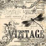 Vintage collage background