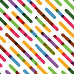 Flat Colorful Diagonal Lines. Vector Seamless Pattern