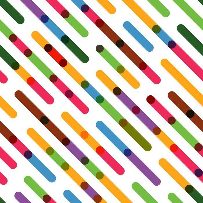 COLORIDO LÍNEAS DIAGONALES PLANAS. MODELO INCONSÚTIL DEL VECTOR - Fotomural Tapiz Líneas DiagonalesPlanas Coloridas