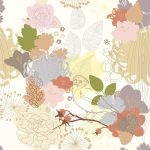 seamless background with abstract botanical ornament