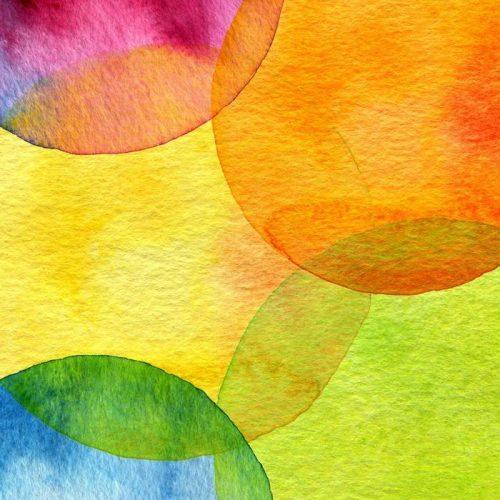 FONDO ABSTRACTO DEL CÍRCULO PINTADO ACUARELA 500x500 - Fotomural Tapiz Abstracto Círculo Tipo Acuarela