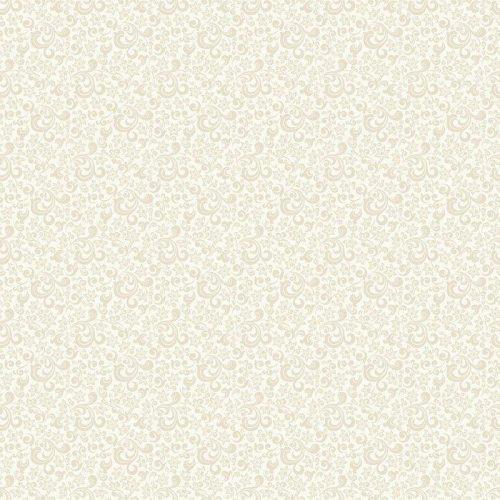 FONDO CLARO SIN FISURAS CON EL PATRÓN DE COLOR BEIGE EN ESTILO BARROCO. VECTOR ILUSTRACIÓN RETRO. IDEAL PARA IMPRIMIR EN TELA O PAPEL 500x500 - Fotomural Tapiz Barroco en Color Beige