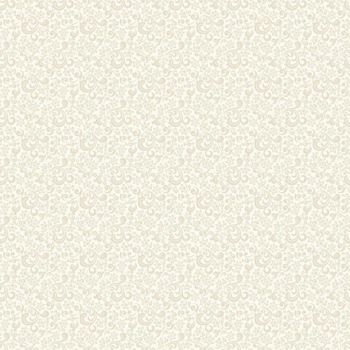FONDO CLARO SIN FISURAS CON EL PATRÓN DE COLOR BEIGE EN ESTILO BARROCO. VECTOR ILUSTRACIÓN RETRO. IDEAL PARA IMPRIMIR EN TELA O PAPEL - Fotomural Tapiz Barroco en Color Beige