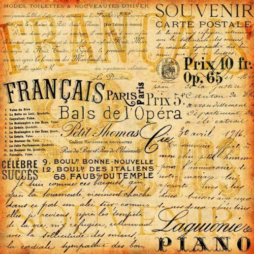 FONDO DE LA VENDIMIA FRANCÉS 500x500 - Fotomurales Papel Tapiz Vintage y Old Style