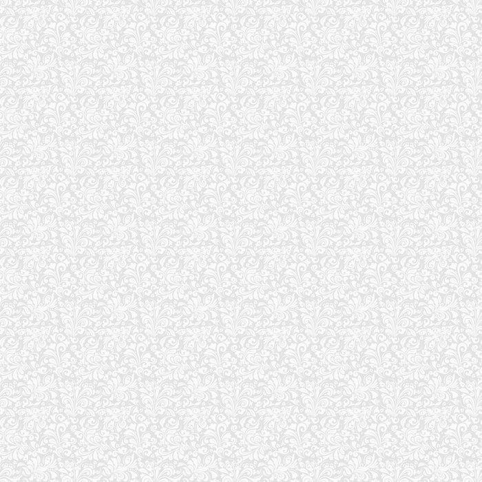 FONDO GRIS TRANSPARENTE CON EL PATRÓN BLANCO EN ESTILO BARROCO. VECTOR ILUSTRACIÓN RETRO. IDEAL PARA IMPRIMIR EN TELA O PAPE - Fotomural Tapiz Barroco Fondo Gris Retro