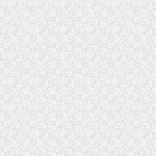 FONDO GRIS TRANSPARENTE CON EL PATRÓN BLANCO EN ESTILO BARROCO. VECTOR ILUSTRACIÓN RETRO. IDEAL PARA IMPRIMIR EN TELA O PAPEL 500x500 - Fotomural Papel Tapiz Barroco y Elegantes