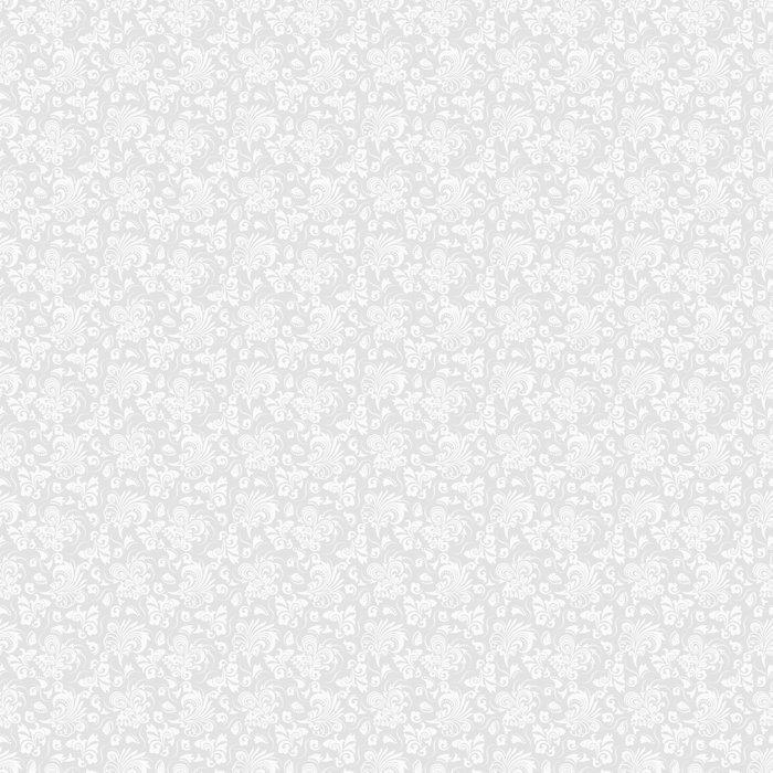 FONDO GRIS TRANSPARENTE CON EL PATRÓN BLANCO EN ESTILO BARROCO. VECTOR ILUSTRACIÓN RETRO. IDEAL PARA IMPRIMIR EN TELA O PAPEL - Fotomural Tapiz Barroco Tipo Retro Fondo Gris