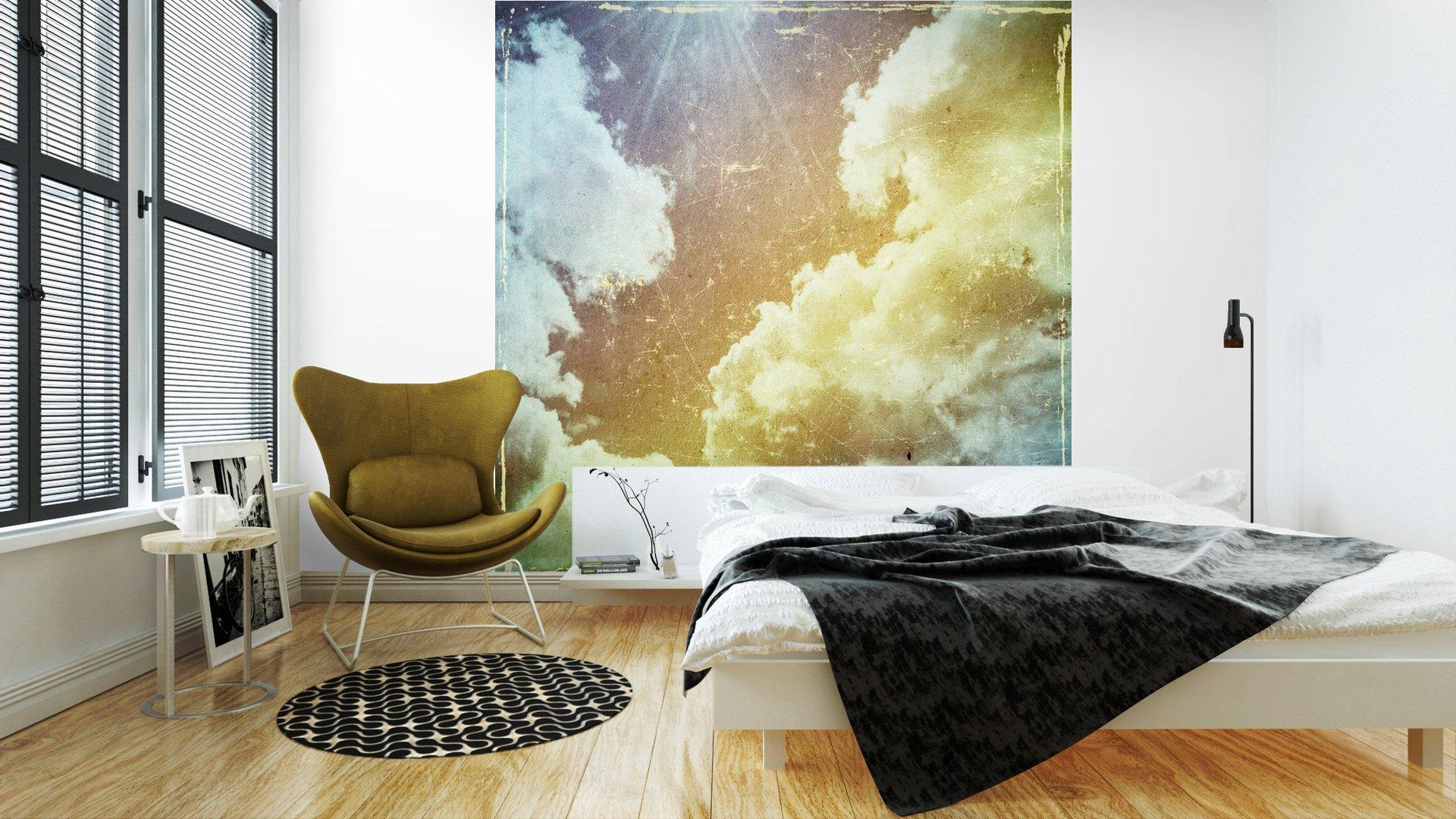GRUNGE TEXTURA DE PAPEL. LA NATURALEZA DE FONDO ABSTRACTO2 - Fotomural Tapiz Abstracto Nubes Tipo Grunge