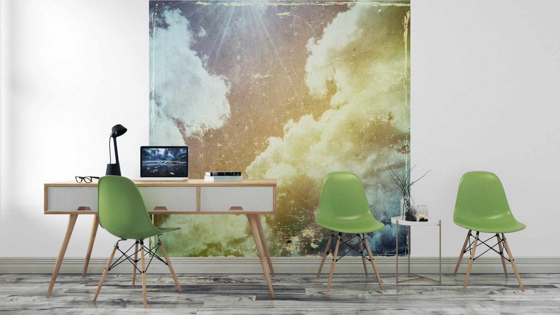 GRUNGE TEXTURA DE PAPEL. LA NATURALEZA DE FONDO ABSTRACTO4 - Fotomural Tapiz Abstracto Nubes Tipo Grunge