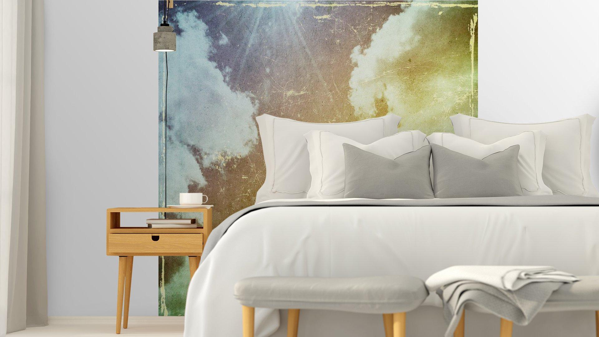 GRUNGE TEXTURA DE PAPEL. LA NATURALEZA DE FONDO ABSTRACTO5 - Fotomural Tapiz Abstracto Nubes Tipo Grunge