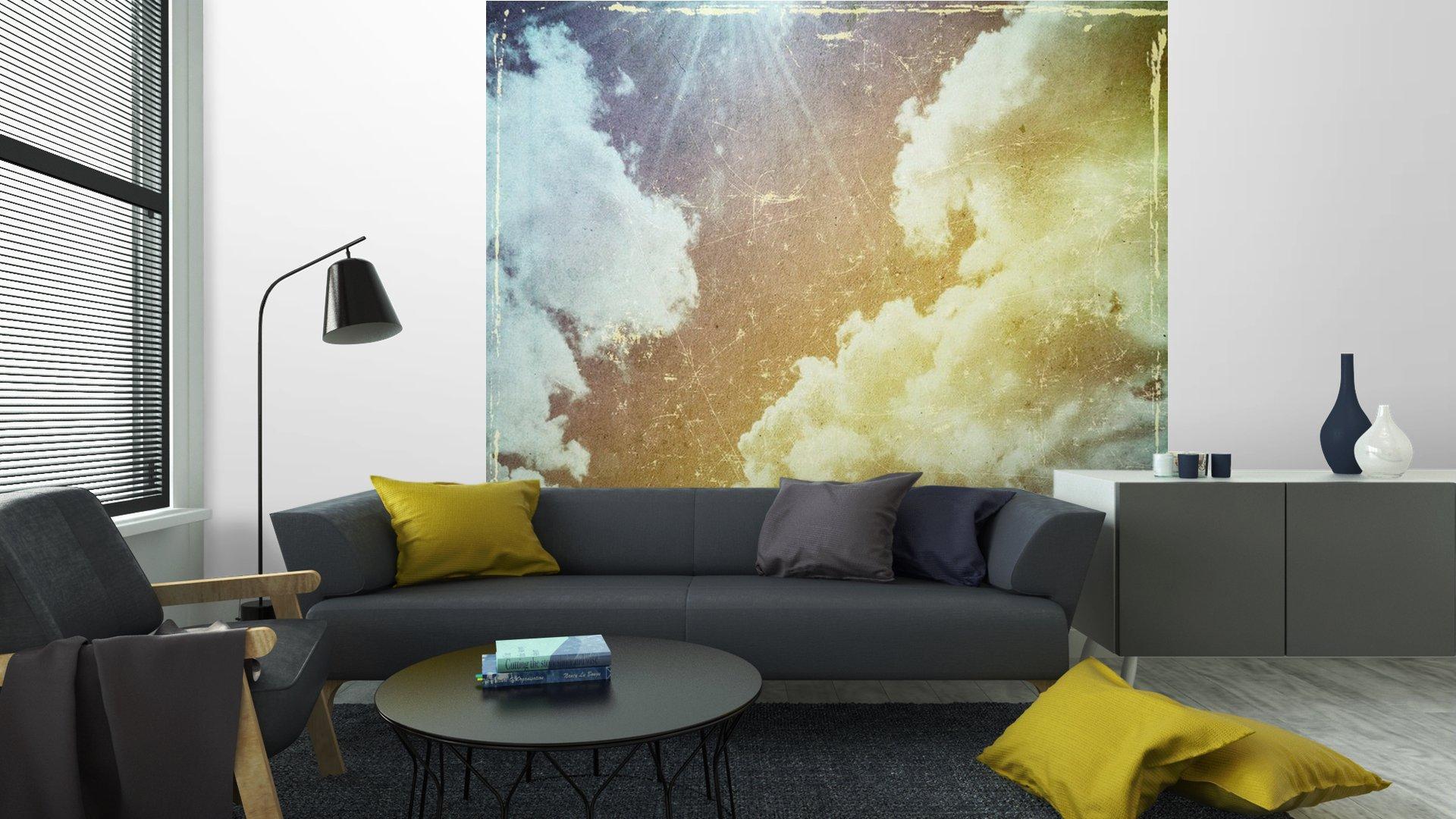 GRUNGE TEXTURA DE PAPEL. LA NATURALEZA DE FONDO ABSTRACTO6 - Fotomural Tapiz Abstracto Nubes Tipo Grunge