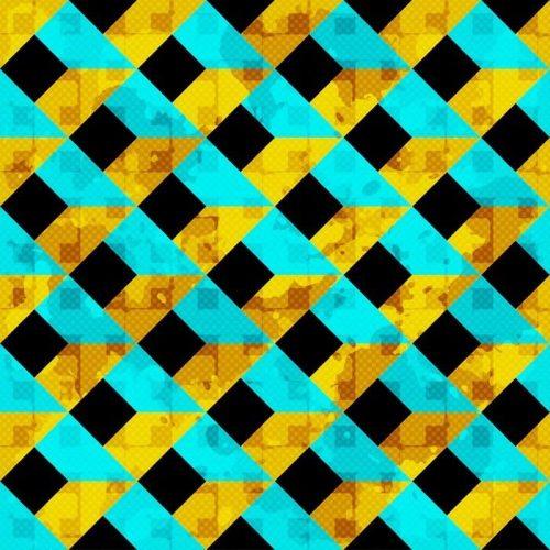 HERMOSAS POLÍGONOS DE COLORES CON CONTORNOS BLANCOS ILUSTRACIÓN VECTORIAL SIN PATRÓN 500x500 - Fotomural Tapiz Polígonos de Colores