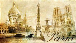 HERMOSO PARIS POSTAL DEL VINTAGE 300x170 - Fotomurales Papel Tapiz Vintage y Old Style