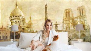 HERMOSO PARIS POSTAL DEL VINTAGE1 300x169 - Fotomurales Papel Tapiz Vintage y Old Style