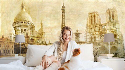 HERMOSO PARIS POSTAL DEL VINTAGE1 500x281 - Fotomural Tapiz Postal de París 01