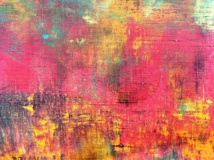 MANO ABSTRACTO COLORIDO LIENZO PINTADO TEXTURA DE FONDO - Fotomural Tapiz Abstracto Colorido 01