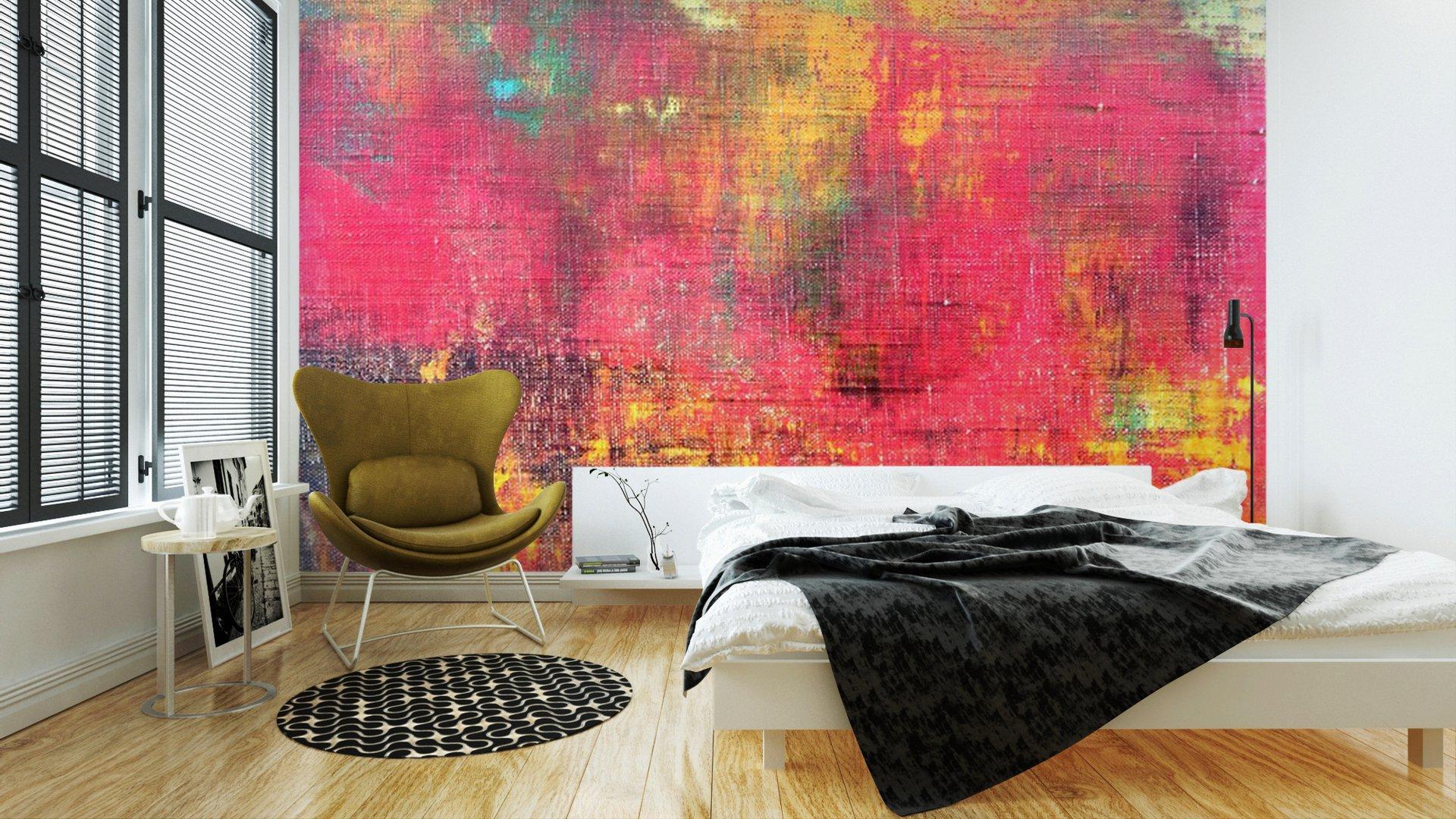 MANO ABSTRACTO COLORIDO LIENZO PINTADO TEXTURA DE FONDO2 - Fotomural Tapiz Abstracto Colorido 01