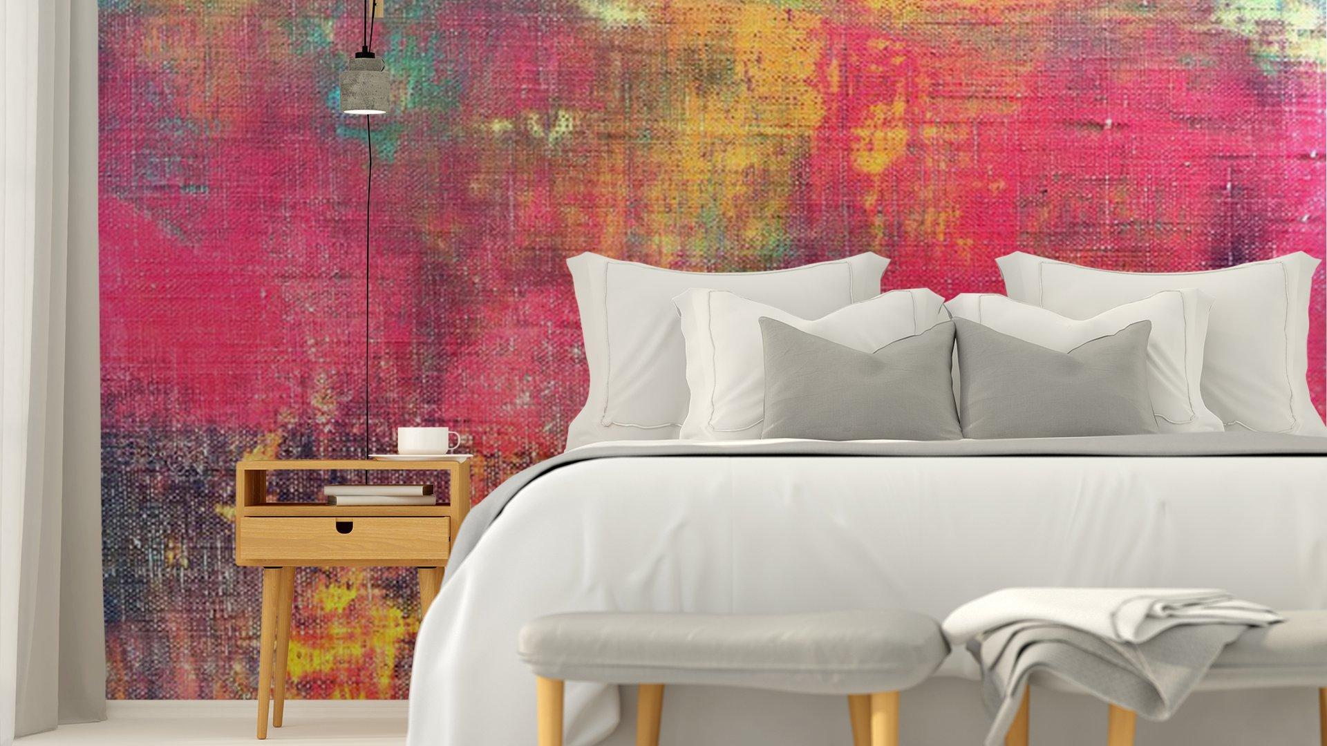 MANO ABSTRACTO COLORIDO LIENZO PINTADO TEXTURA DE FONDO5 - Fotomural Tapiz Abstracto Colorido 01
