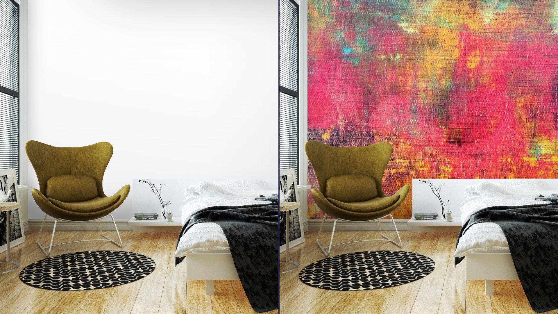 MANO ABSTRACTO COLORIDO LIENZO PINTADO TEXTURA DE FONDO7 - Fotomural Tapiz Abstracto Colorido 01