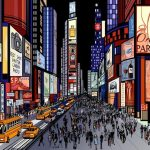 New York – night view of times square