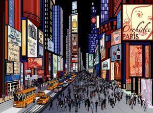 NUEVA YORK VISTA NOCTURNA DE TIMES SQUARE 300x221 - Fotomurales Papel Tapiz Modernos y Contemporáneos