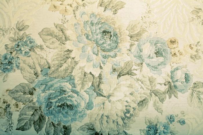 PAPEL PINTADO CON EL MODELO DEL VICTORIAN AZUL FLORAL - Fotomural Tapiz Azul Floral Victorian