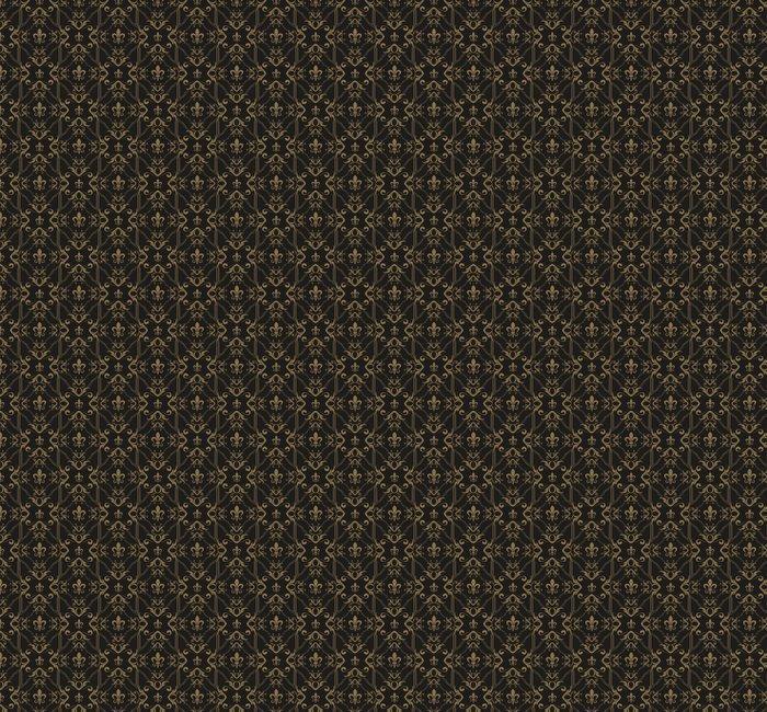 PAPEL PINTADO REAL DE PATRONES SIN FISURAS - Fotomural Tapiz Patrones sin Fisuras Negro