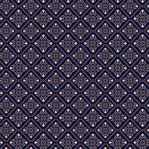 PATRÓN FLORAL. PAPEL PINTADO BARROCO DAMASCO. FONDO DE VECTOR TRANSPARENTE. ORNAMENTO AZUL OSCURO 500x500 - Fotomural Tapiz Damasco Floral Azul Oscuro