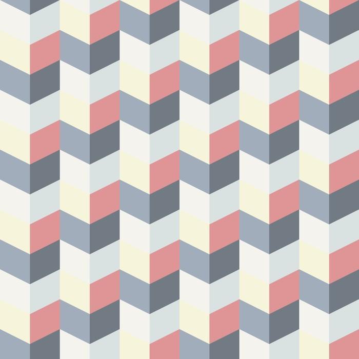 PATRÓN GEOMÉTRICO ABSTRACTO RETRO 3 - Fotomural Tapiz Patrón Geométrico Abstracto Tipo Retro 04