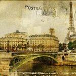 memories about Paris – vintage background
