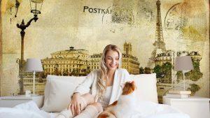 RECUERDOS DE PARÍS FONDO DE LA VENDIMIA1 300x169 - Fotomurales Papel Tapiz Vintage y Old Style