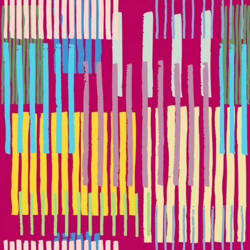 TRANSPARENTE PATRÓN DE RAYAS GEOMÉTRICA 500x500 - Fotomural Tapiz Rayas Geométricas Irregulares en Tonos Vibrantes