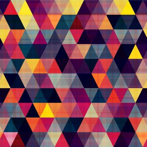 TRIÁNGULO FONDO SIN FISURAS 500x500 - Fotomural Tapiz Geométrico Triángulo