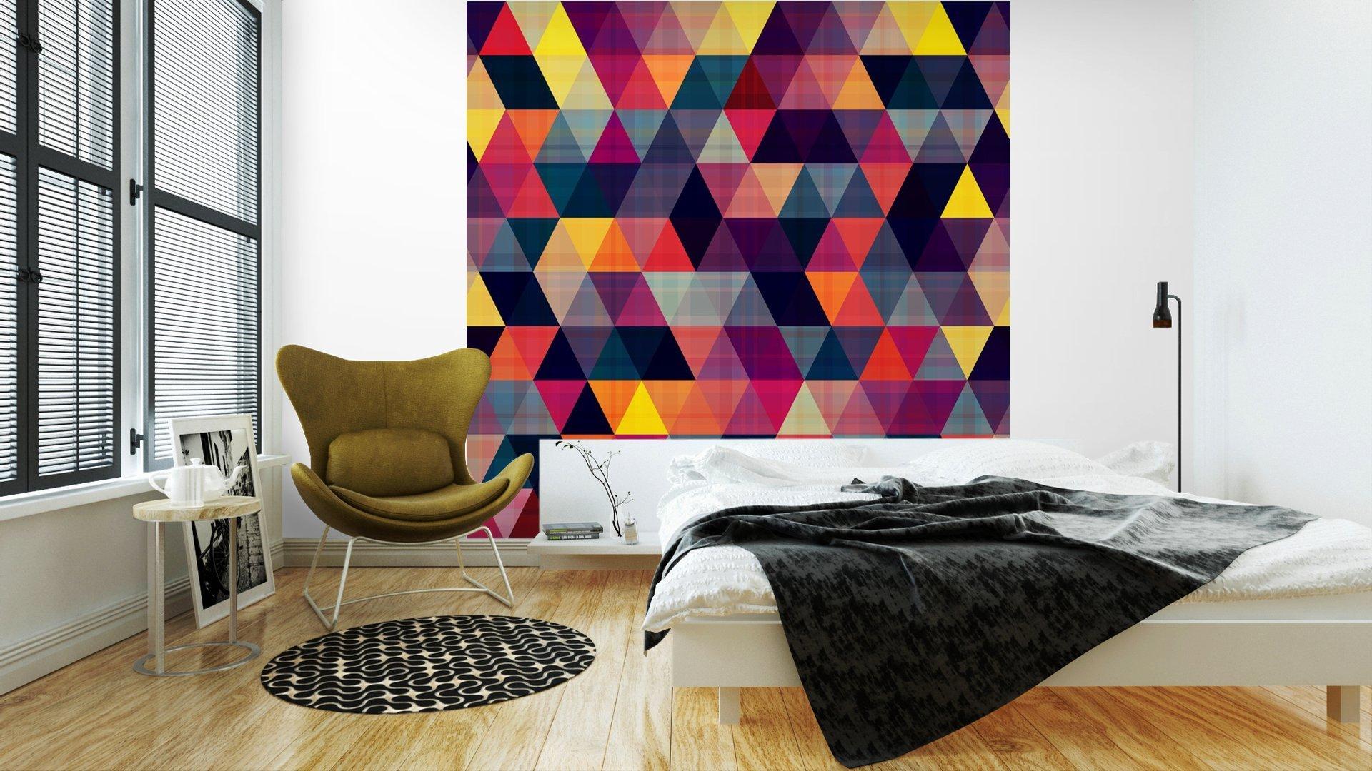 TRIÁNGULO FONDO SIN FISURAS2 - Fotomural Tapiz Geométrico Triángulo