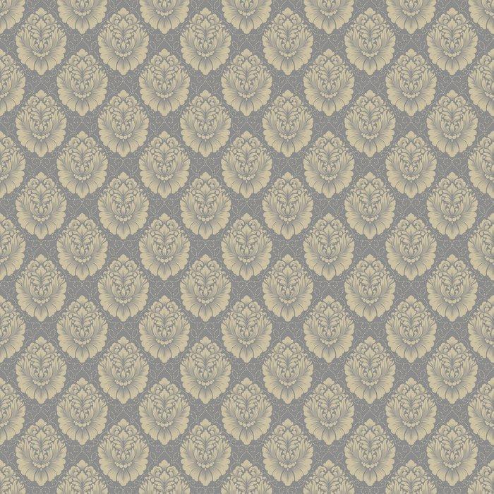 VECTOR DAMASCO SIN FISURAS DE FONDO 2 - Fotomural Tapiz Damasco Clásico Floral Color Oscuro 01