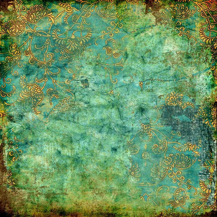 VERDE TEXTURA VENDIMIA OXIDADA - Fotomural Tapiz Verde con Textura Oxidada