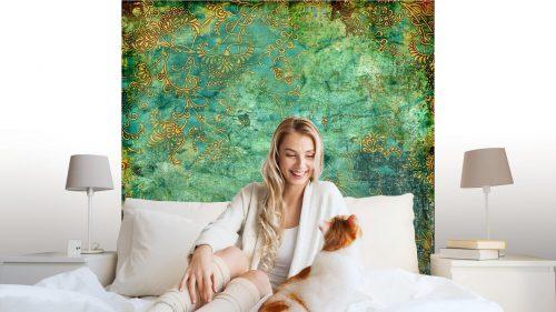 VERDE TEXTURA VENDIMIA OXIDADA1 500x281 - Fotomural Tapiz Verde con Textura Oxidada