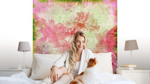 VINTAGE PAPER FLORAL ROSA1 500x281 - Fotomural Tapiz Floral Color Rosa 01