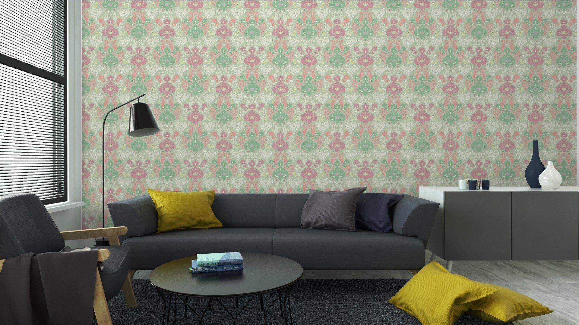 papeles pintados estilos para el salon temas categoria virtual patron abstracto sin costuras - Fotomural Tapiz Barroco Tipo Abstracto